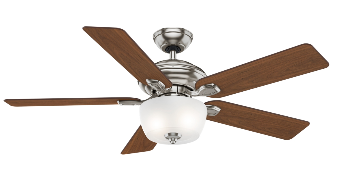 52 Brushed Nickel Chrome Ceiling Fan